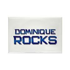 dominique rocks Rectangle Magnet