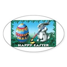 Easter Bunny Oval Decal