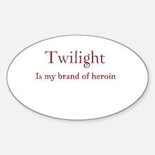 Twilight Junkies Oval Decal