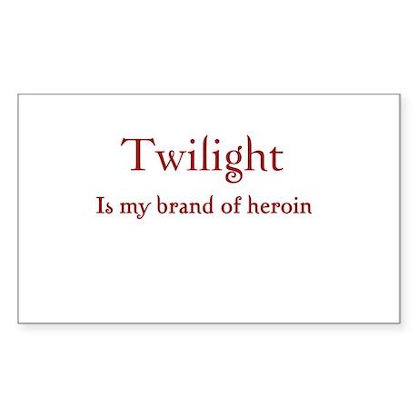 Twilight Junkies Rectangle Sticker