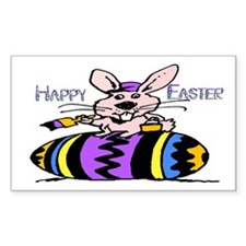 Easter Bunny & Egg Rectangle Decal