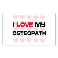 I Love My Osteopath Rectangle Decal