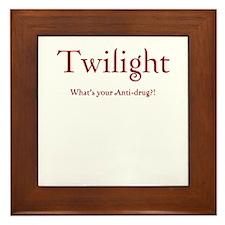 """Twilight Junkies """"Twilight Anti-Drug"""" Framed Tile"""