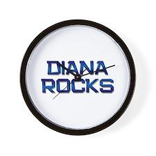 diana rocks Wall Clock