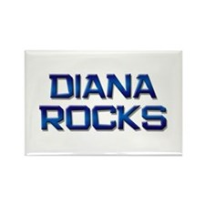 diana rocks Rectangle Magnet