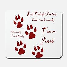 """Twilight Junkies """"Werewolf Tracks"""" Mousepad"""