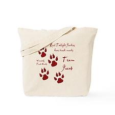 """Twilight Junkies """"Werewolf Tracks"""" Tote Bag"""