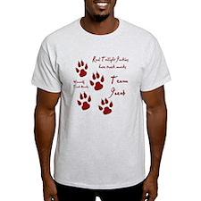 """Twilight Junkies """"Werewolf Tracks"""" T-Shirt"""