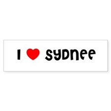 I LOVE SYDNEE Bumper Car Sticker