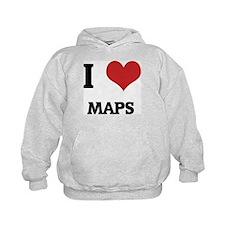I Love Maps Hoodie