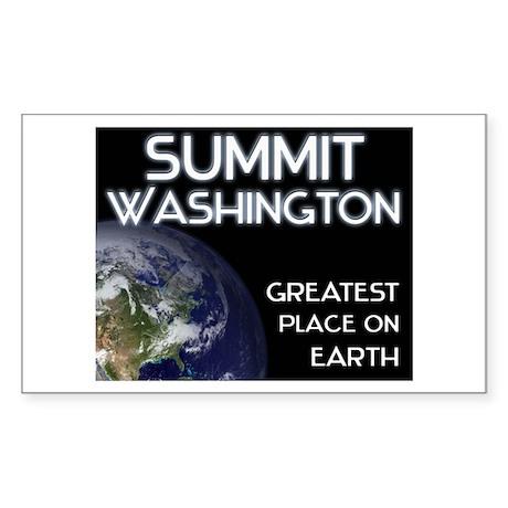 summit washington - greatest place on earth Sticke