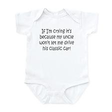 Drive My Uncles Classic Car Infant Bodysuit