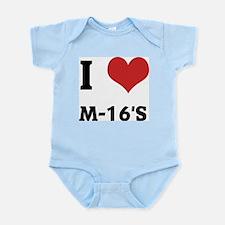 I Love M-16's Infant Creeper