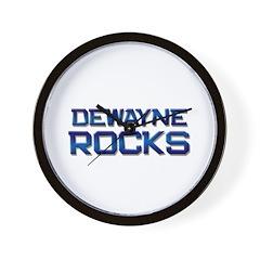 dewayne rocks Wall Clock