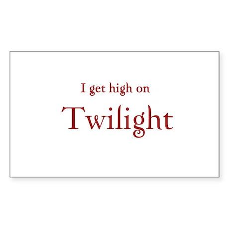 "Twilight Junkies ""Twilight High"" Sticker (Rectangl"
