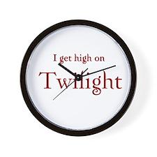 """Twilight Junkies """"Twilight High"""" Wall Clock"""