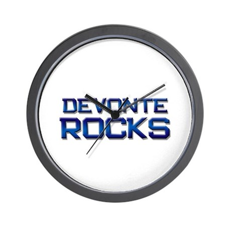 devonte rocks Wall Clock
