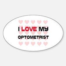 I Love My Optometrist Oval Decal