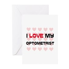 I Love My Optometrist Greeting Cards (Pk of 10)