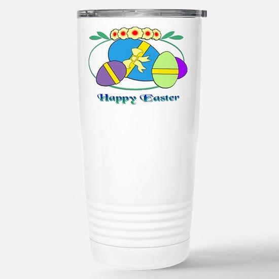 Happy Easter Eggs Stainless Steel Travel Mug