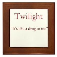 """Twilight Junkies """"Twilight Drug"""" Framed Tile"""