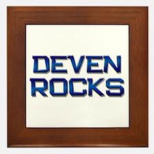 deven rocks Framed Tile