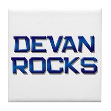 devan rocks Tile Coaster