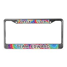 Peace Love Team Edward License Plate Frame