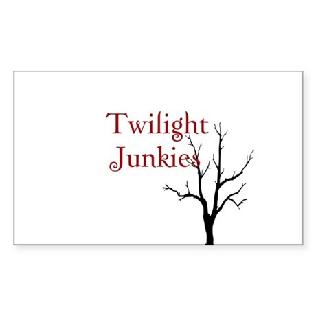 "Twilight Junkies ""Twilight Junkie"" Sticker (Rectan"