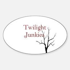 """Twilight Junkies """"Twilight Junkie"""" Oval Decal"""