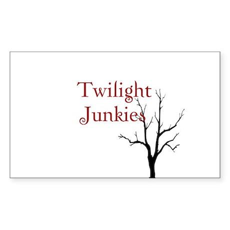 """Twilight Junkies """"Twilight Junkie"""" Sticker (Rectan"""