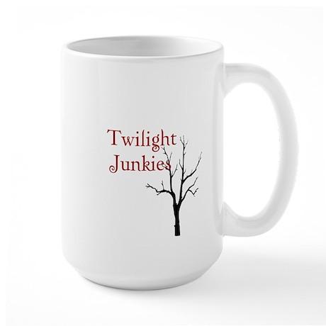 """Twilight Junkies """"Twilight Junkie"""" Large Mug"""