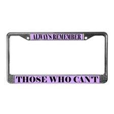 Alzheimer's Remember License Plate Frame