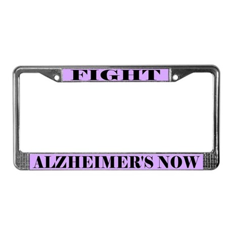 Fight Alzheimer's License Plate Frame