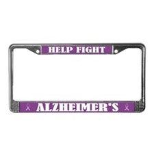 Help Fight Alzheimer's License Frame