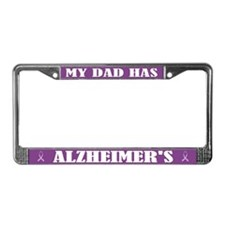 Dad Has Alzheimer's License Plate Frame