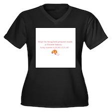 Cute Fortune cookie Women's Plus Size V-Neck Dark T-Shirt