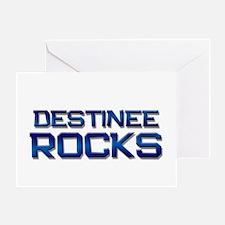 destinee rocks Greeting Card
