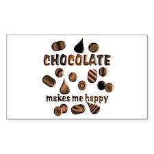 Chocolate Rectangle Decal