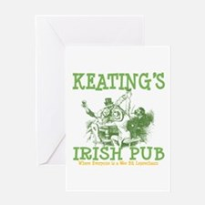 Keating's Irish Pub Personalized Greeting Card