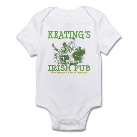 Keating's Irish Pub Personalized Infant Bodysuit