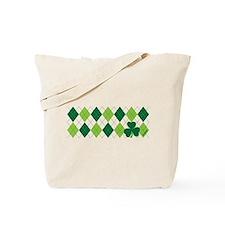 Clover Argyle Tote Bag