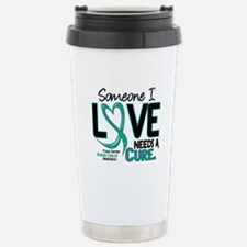 Needs A Cure 2 OVARIAN CANCER Travel Mug