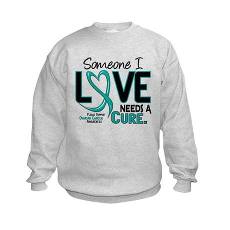 Needs A Cure 2 OVARIAN CANCER Kids Sweatshirt