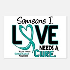 Needs A Cure 2 OVARIAN CANCER Postcards (Package o