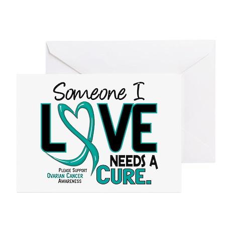 Needs A Cure 2 OVARIAN CANCER Greeting Cards (Pk o