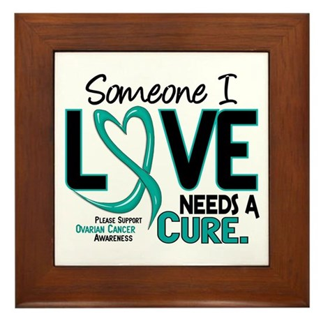 Needs A Cure 2 OVARIAN CANCER Framed Tile