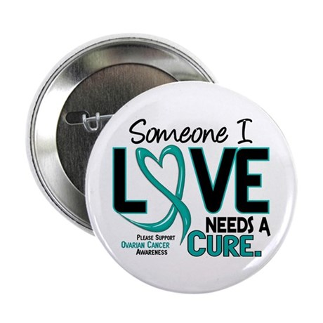 """Needs A Cure 2 OVARIAN CANCER 2.25"""" Button (100 pa"""