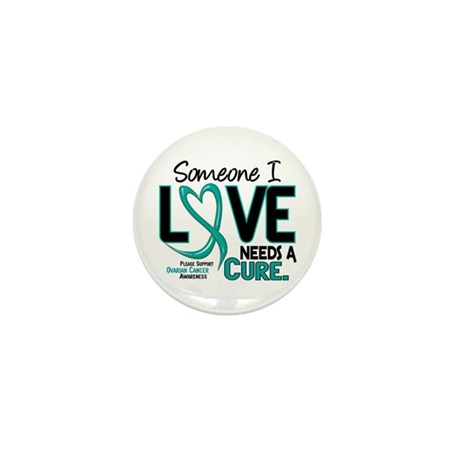 Needs A Cure 2 OVARIAN CANCER Mini Button (100 pac