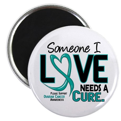 "Needs A Cure 2 OVARIAN CANCER 2.25"" Magnet (10 pac"